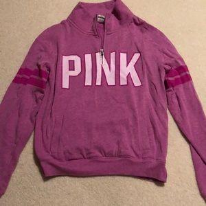 VS Pink- purple quarter-zip